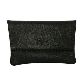 Tobacco Pouch Aztec 30gm Black Leather