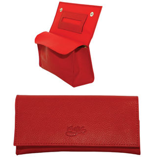 Tobacco Pouch Aztec 50gm Red Leather