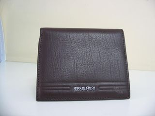 Wallet Leather #2131/127 Book Style Black or Brown
