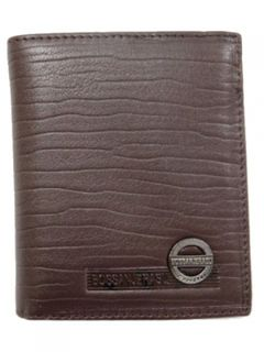 Wallet Leather #22062/153 with Zip Brown