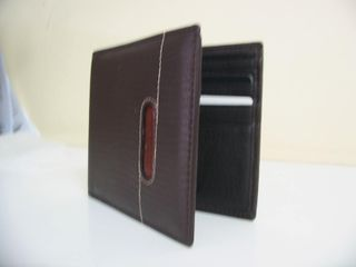 Wallet Leather #22028/133 Black or Brown