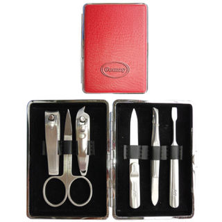 Comoy Large 6-Piece Manicure Set Red