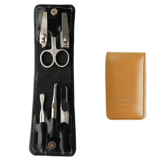 Comoy Small 6-Piece Folding Manicure Set Tan
