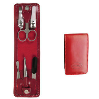 Comoy Small 6-Piece Folding Manicure Set Red