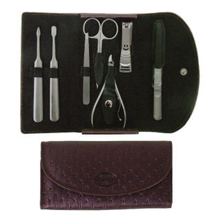 Comoy 7-Piece Manicure Set Purple