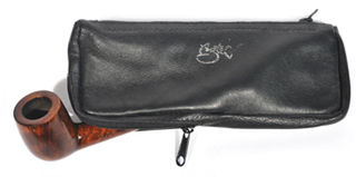 Aztec Pipe And Tobacco Pouch Brown