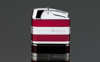 Siglo Retro II Lighter - Metallic Red