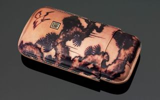 Tattoo Leather Cigar Case (3 Sticks) - Traditional Painting
