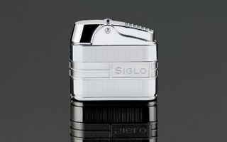 Siglo Retro II Lighter - Chrome Stripes
