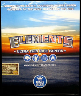 Elements Cigarette Papers Kingsize Ultra Thin Rice (33 Leaves per Pack) Carton (50 Packs per Carton).
