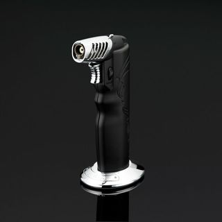 Siglo Oval Table Torch Lighter - Black