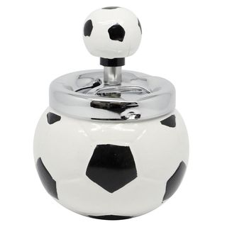 Spinning Ashtray Chrome (Medium-Round-Soccer-Ball-Shape)