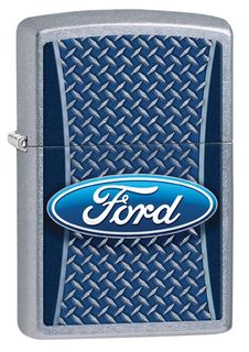 Zippo Ford Checkerplate - Street Chrome