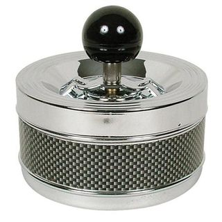 Spinning Ashtray Chrome (Medium Round) Carbon Fibre Band