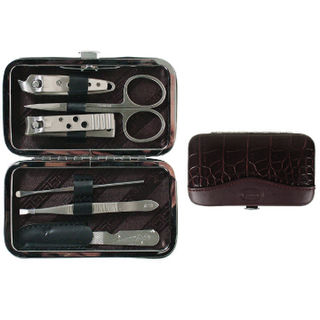 Comoy 6 Piece Clip Manicure Set Brown