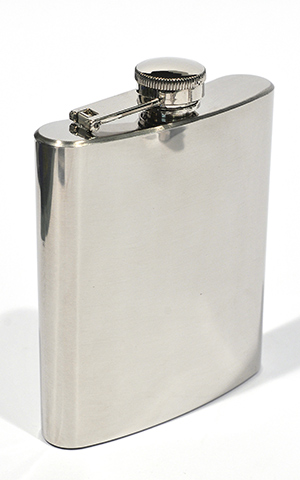 Hip Flask Polished Chrome 8 oz