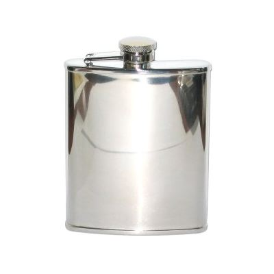 Hip Flask Polished Chrome 6 oz