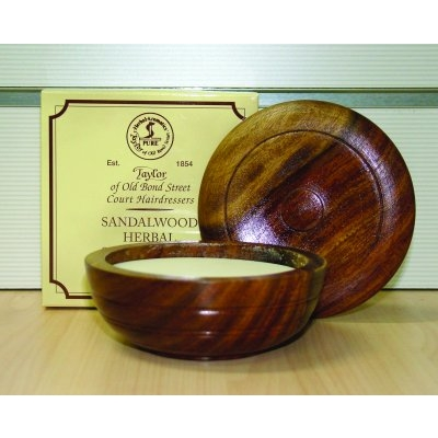 Taylors Sandalwood Shaving Soap - 100gm in Wooden Bowl