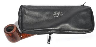 Aztec Pipe And Tobacco Pouch Black