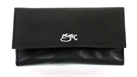 Tobacco Pouch Aztec Black Leather Roll-Up (Large)