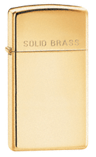 Zippo Brass High Polish (Engraved) (Slim)