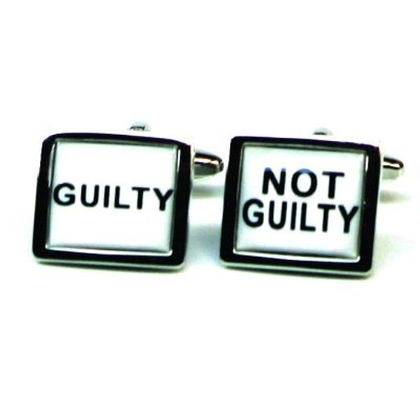 Cufflinks Guilty Not Guilty