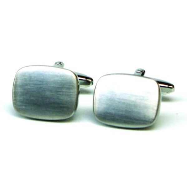 Cuff Links Brushed Chrome