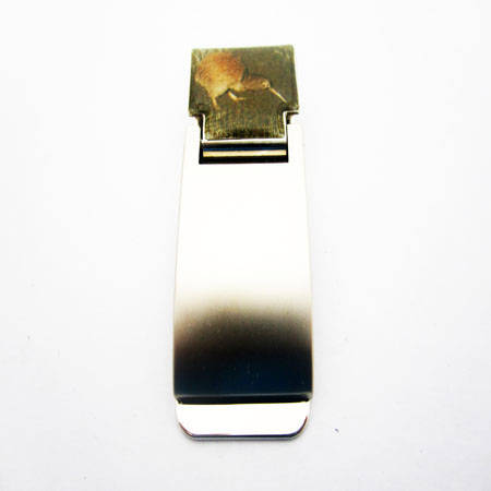 Money Clip with Souvenir Kiwi Image