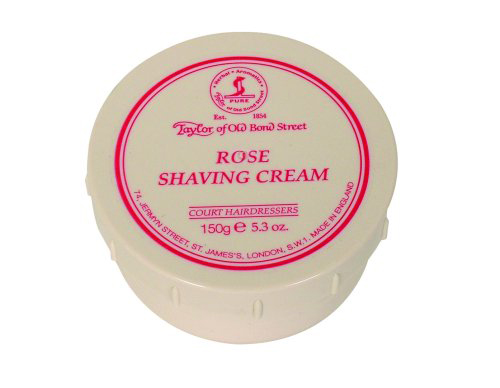 Taylors Rose Shaving Cream - 150gm Bowl