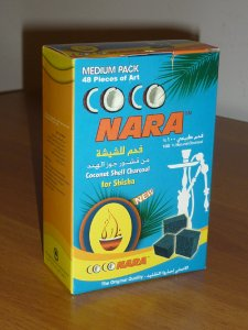 Coconara Charcoal Pack Medium (48 pieces - Flat Square Shape)  1/2 Kg