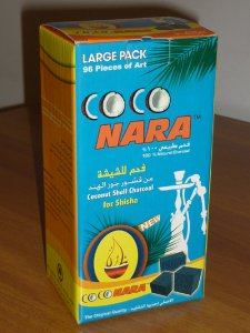 Coconara Charcoal Pack Large (96 pieces - Flat Squares)  1Kg