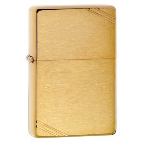 Zippo Brushed Brass Vintage Series