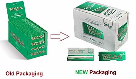 Rizla Regular Green Single Rolling Papers Carton