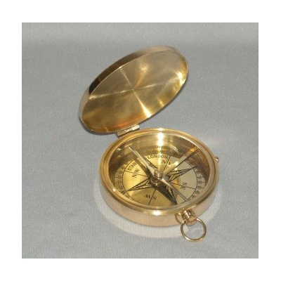Brass Pocket Compass 76mm