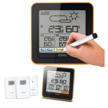 Home Climate Control RAR501 with 3 Sensors by Oregon Scientific