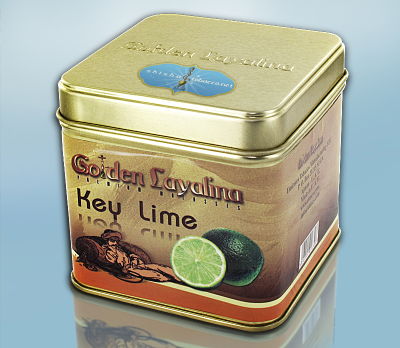 Golden Layalina Shisha Tobacco Key Lime 50g Tin