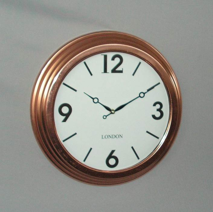 Copper Plate Clock with Glass (41cm Diameter )