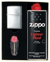 Zippo Polished Chrome Gift Pack