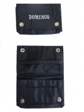 Tobacco Pouch Black Vinyl Domed (Domingo Branded)