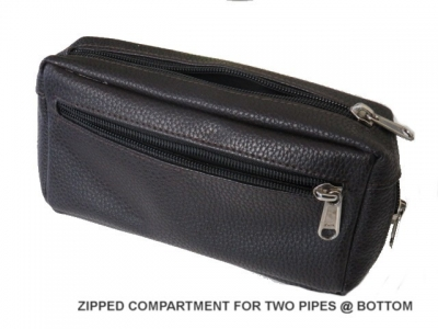 Pipe and Tobacco Brown Leather Pouch (200mm Long X 100mm High)