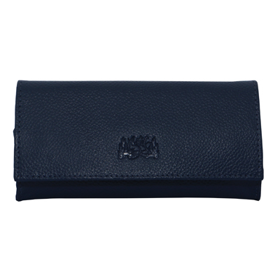 Tobacco Pouch Aztec 50gm Navy Blue Leather
