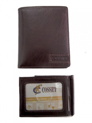Wallet Leather Burgundy with Removable Credit Card/DL Section