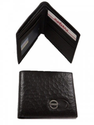 Wallet Leather #22093/137 Brown or Black Crocodile Effect Finish