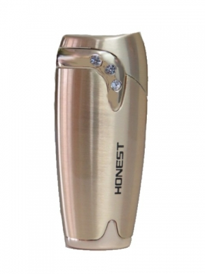 Gas Lighter Honest Brand Single Jet with Crystals