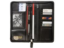 Organiser Great Escape Black Leather