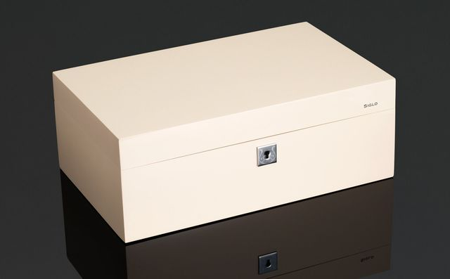 Cigar Humidor - Vibrant Series - 75 Stick - Ivory White