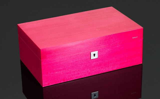 Cigar Humidor - Vibrant Series - 75 Stick - Siren Red