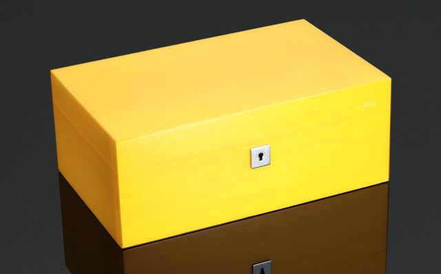 Cigar Humidor - Vibrant Series - 75 Stick - Sunny Yellow