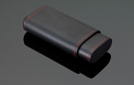 Stitches Leather Cigar Case - Red Stitching