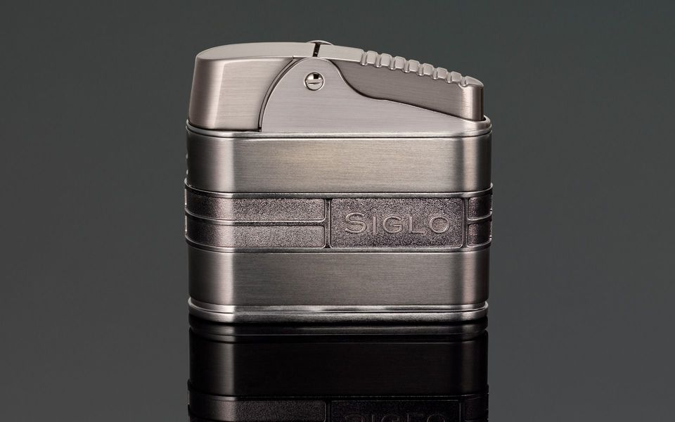 Siglo Retro Streamliner Table Lighter - Gun Metal